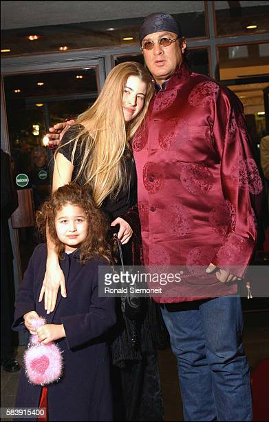 American actor Steven Segal with his wife Arissa and daughter Savannah