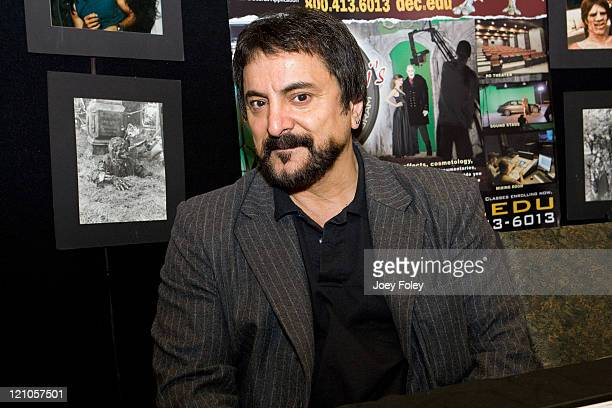 American actor stunt man director and awardwinning special effects and makeup artist Tom Savini attends HorrorHound Weekend Indianapolis Day 3 at...