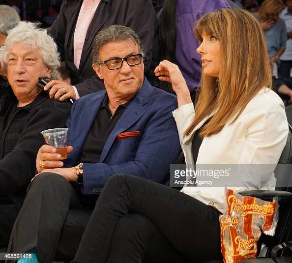 American actor Sylvester Stallone and his wife Jennifer ...