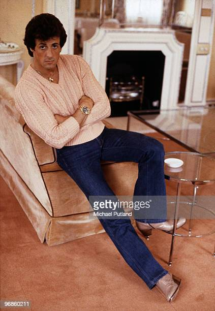 American actor Sylvester Stallone London 1982