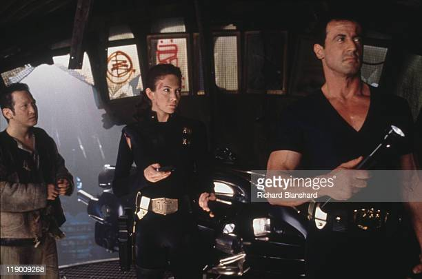 American actor Sylvester Stallone stars as the titular law enforcement officer with Diane Lane as his colleague Judge Hershey and Rob Schneider as...