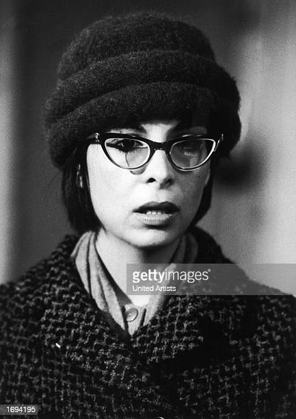 American actor Talia Shire wears hornrimmed eyeglasses and a hat in a headshot still from the film 'Rocky' directed by John G Avildsen 1976