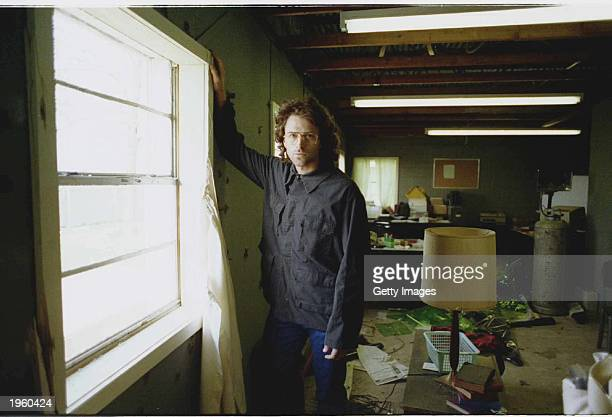 American actor Tim Daly stands by a window on the set of the TV movie 'In the line of fire Ambush in Waco' on location Tulsa Oklahoma 1993