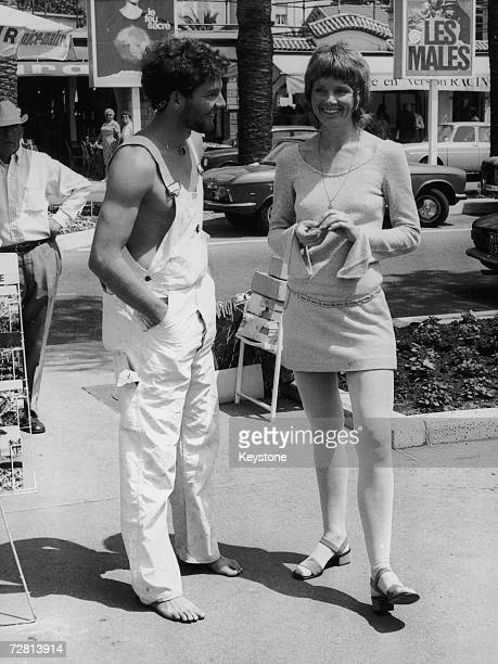 American actor Timothy Bottoms with American actress Diane Varsi in Cannes during the Cannes Film Festival 15th August 1971 Both are in town to...