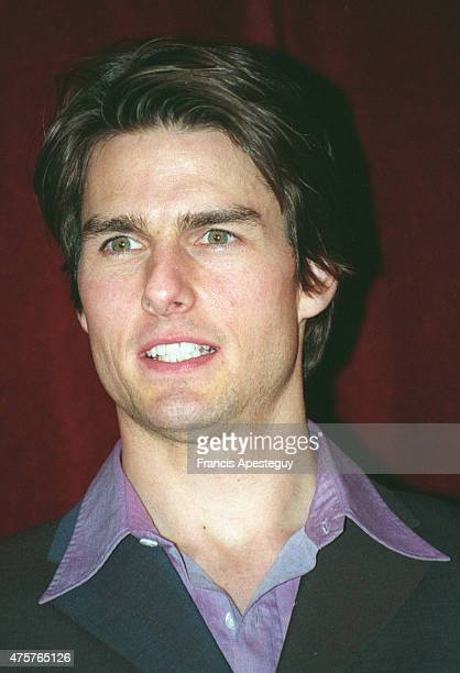 American actor Tom Cruise for the French premier of the film Jerry Maguire