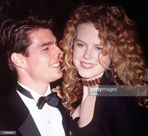 American actor Tom Cruise with his wife Nicole Kidman, circa 1992.