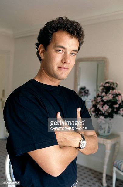 American actor Tom Hanks during the American Film Festival of Deauville for the presentation of the film Big directed by Penny Marshall