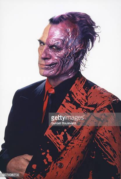 American actor Tommy Lee Jones on the set of Batman Forever directed by Joel Schumacher