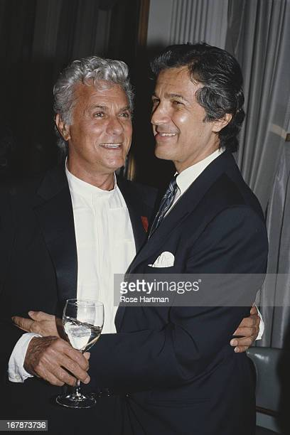 American actor Tony Curtis and American film director Stan Dragoti circa 1994