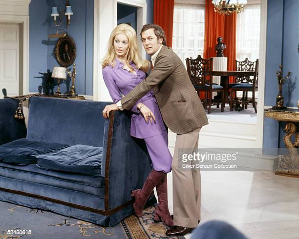 American actor Tony Curtis and Annette Andre as they appear in 'Powerswitch' an episode of the TV series 'The Persuaders' circa 1971