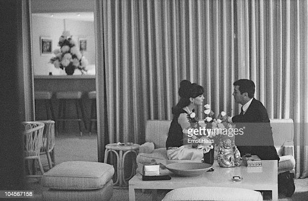 American actor Tony Curtis marries German actress Christine Kaufmann 1963