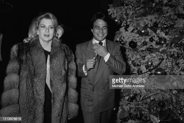 American actor Tony Danza with his partner Tracy Robinson circa 1985