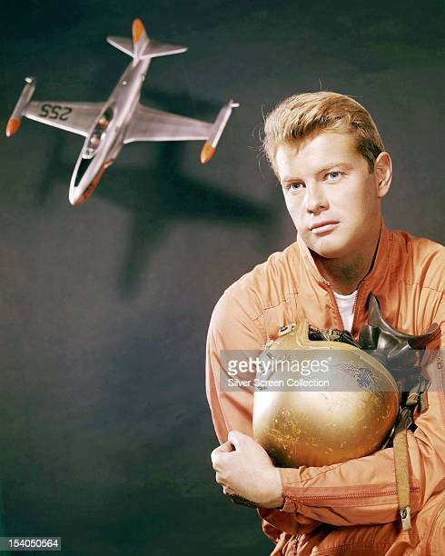 American actor Troy Donahue as navy jet pilot McVey in a publicity still for 'The Crowded Sky' directed by Joseph Pevney 1960