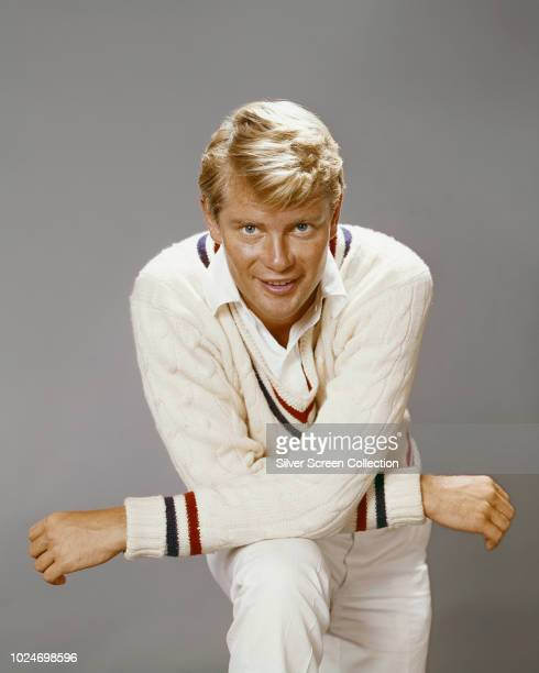 American actor Troy Donahue dressed for cricket circa 1965