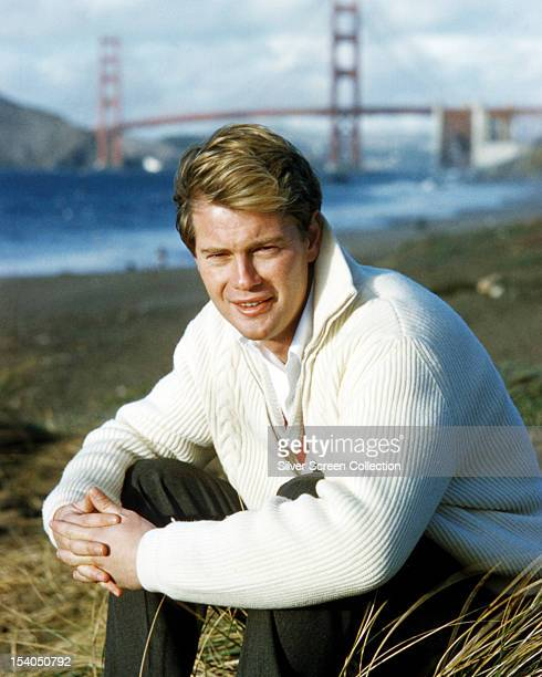 American actor Troy Donahue San Francisco California circa 1965 In the background is the Golden Gate Bridge