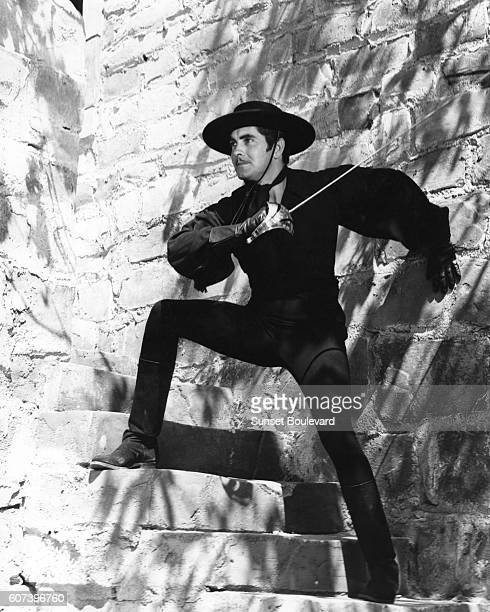 American actor Tyrone Power on the set of The Mark of Zorro directed by Armenian American Rouben Mamoulian
