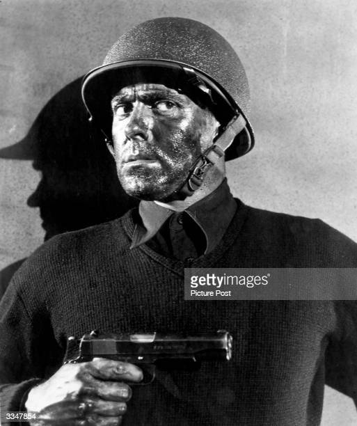 American actor Tyrone Power stars in the film 'Crash Dive', a wartime romance directed by Archie Mayo for 20th Century Fox.