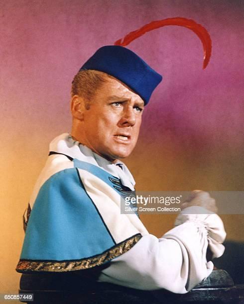 American actor Van Johnson as The Minstrel in the television series 'Batman' 1966