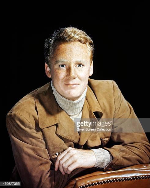 American actor Van Johnson wearing a suede jacket circa 1955