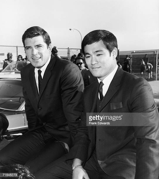American actor Van Williams and martial arts expert Bruce Lee who appeared in the television show 'The Green Hornet' together December 1966