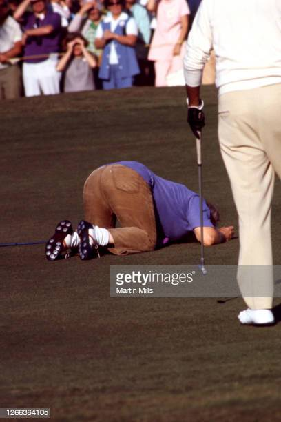 American actor, vaudevillian, comedian, producer and radio personality Mickey Rooney kneels on the ground while fooling around during the 1972 Jackie...
