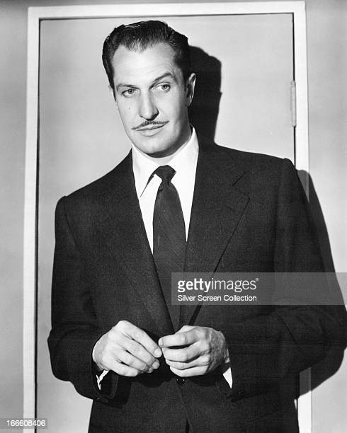 American actor Vincent Price circa 1945