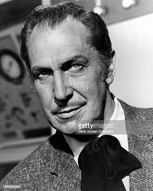 American actor Vincent Price in a promotional portrait for 'The Deadly Dolls' an episode in Irwin Allen's TV series 'Voyage to the Bottom of the Sea'...