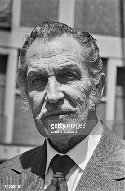 American actor Vincent Price , UK, 15th June 1973.
