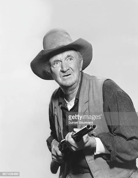 American actor Walter Brennan on the set of Rio Bravo directed and produced by Howard Hawks