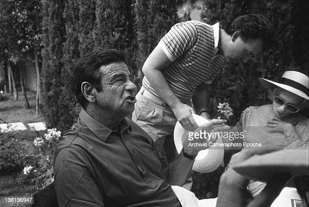 American actor Walter Matthau during a lunch at the at the Tribute To Ingrid Gala Lido Venice 1983
