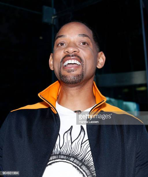 American actor Will Smith poses with fans at Martin place ahead of his appearance on 'Sunrise' on January 15 2018 in Sydney Australia