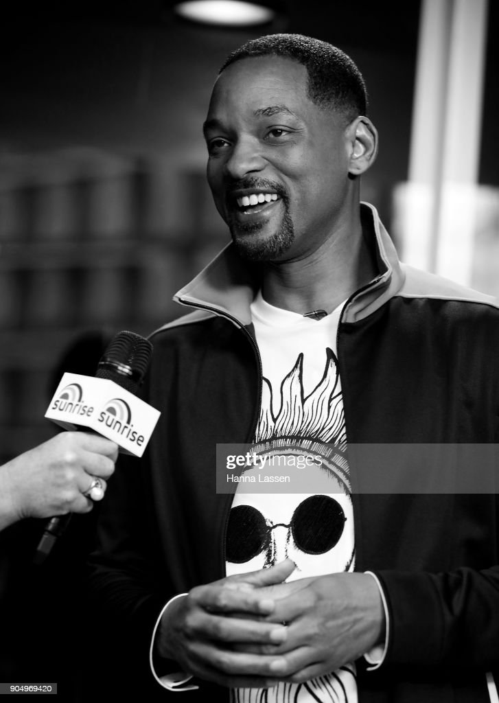 American actor, Will Smith, speaks at Martin place ahead of his appearance on 'Sunrise' on January 15, 2018 in Sydney, Australia.