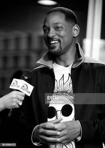 American actor Will Smith speaks at Martin place ahead of his appearance on 'Sunrise' on January 15 2018 in Sydney Australia