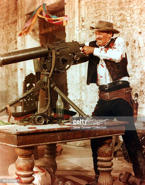 American actor William Holden as Pike Bishop in the Sam Peckinpah western 'The Wild Bunch' 1969