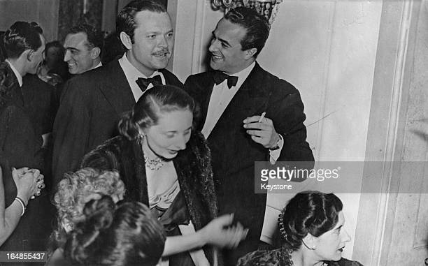 American actor writer director and producer Orson Welles attends a Fashion Ball in Rome Italy 21st January 1948 Welles is in Italy for the filming of...