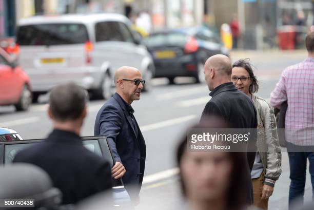American actor writer producer and film director Stanley Tucci attends a photocall for the event 'In Person Stanley Tucci' during the 71st Edinburgh...