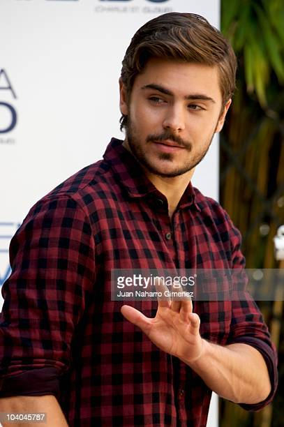 American actor Zac Efron poses during 'Charlie St Cloud' photocall at Santo Mauro Hotel on September 13 2010 in Madrid Spain