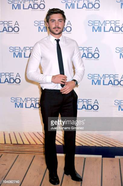 American actor Zac Efron poses during 'Charlie St Cloud' premiere at Capitol Cinema on September 13 2010 in Madrid Spain