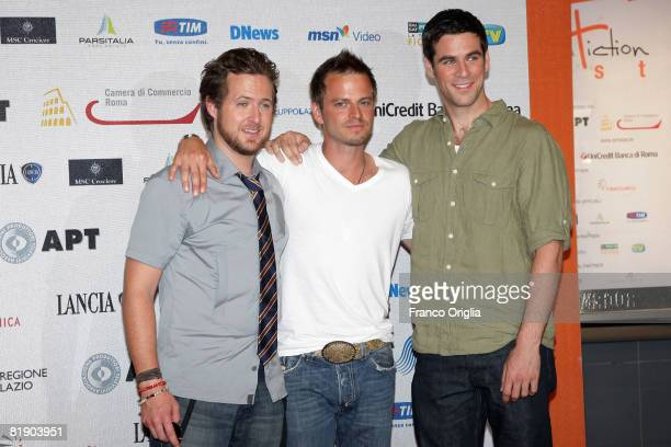 American actors AJ Buckley Carmine Giovinazzo and Eddie Cahill of the television series 'CSI New York' attend the fifth day of Roma Fiction Fest 2008...