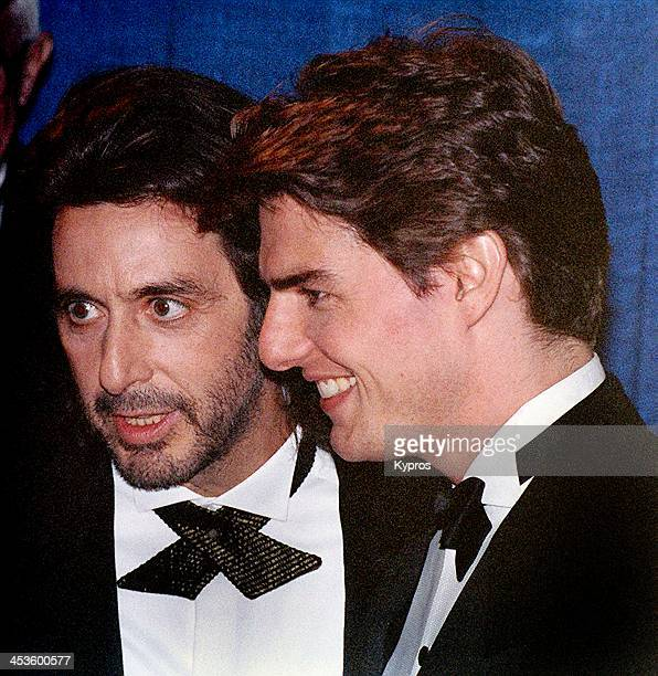 American actors Al Pacino and Tom Cruise at the 50th Annual Golden Globe Awards USA 23rd January 1993