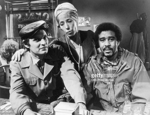 American actors and comedians Alan Alda Lily Tomlin and Richard Pryor in a still from the television show 'Lily'