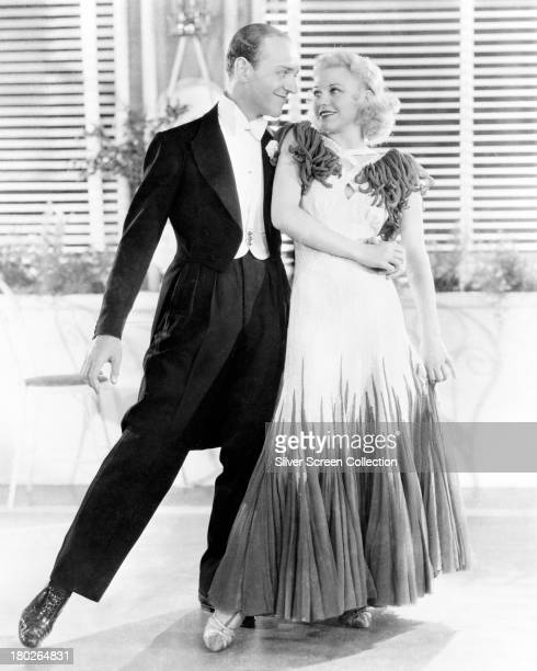 American actors and dancers Fred Astaire and Ginger Rogers in a promotional still for 'The Gay Divorcee' directed by Mark Sandrich 1934