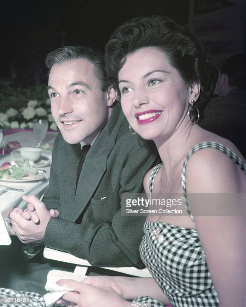 American actors and dancers Gene Kelly and Cyd Charisse circa 1955