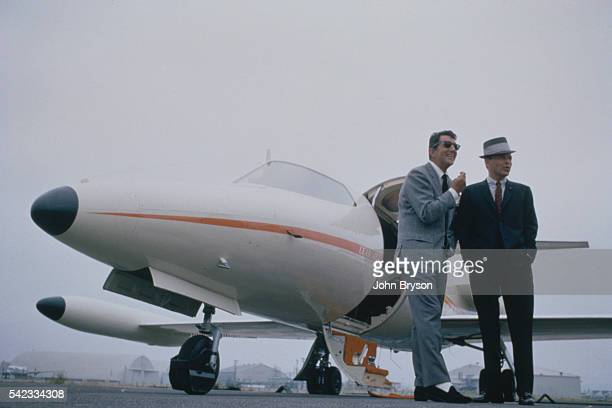 American actors and singers Dean Martin and Frank Sinatra