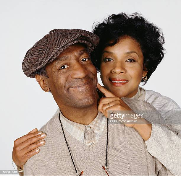 American actors Bill Cosby and Phylicia Rashad pose in character for a promotional photograph for the CBS sitcom 'Cosby,' June 17, 1996.