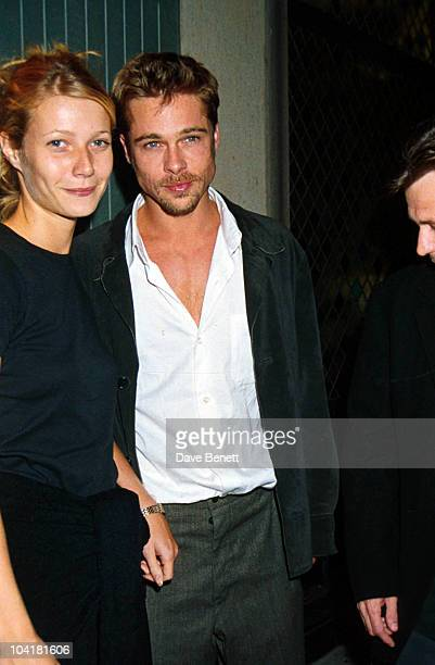 American actors Brad Pitt and Gwyneth Paltrow and at the Ivy restaurant in London, 14th August 1995.