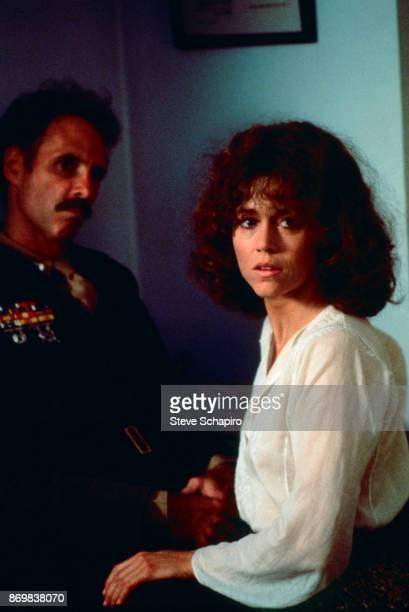 American actors Bruce Dern and Jane Fonda in a scene from the film 'Coming Home' Santa Monica California 1977
