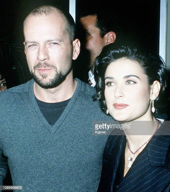 American actors Bruce Willis and Demi Moore attend 'A Few Good Men' Westwood Premiere at Mann Village Theatre in Westwood California 9th December 1992