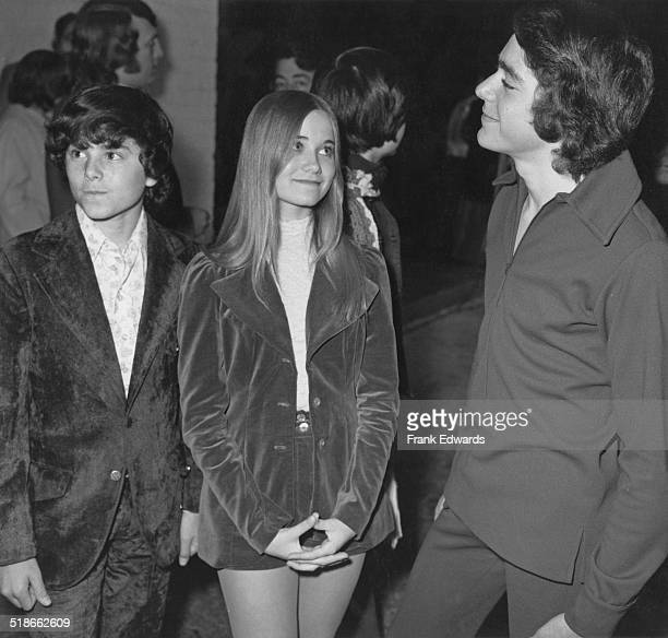 American actors Christopher Knight Maureen McCormick and Barry Williams stars of the US TV sitcom 'The Brady Bunch' at the premiere of The Who's rock...