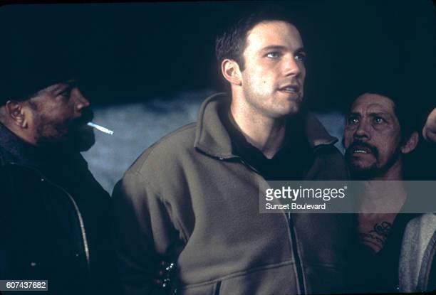 American actors Clarence Williams III Ben Affleck and Danny Trejo on the set of Reindeer Games directed by John Frankenheimer